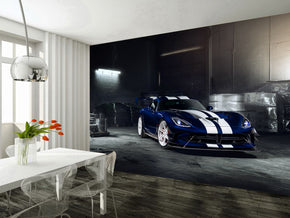 Sports Car Woven Self-Adhesive Removable Wallpaper Modern Mural M62