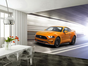 Sports Car Woven Self-Adhesive Removable Wallpaper Modern Mural M73
