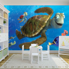 Fish Woven Self-Adhesive Removable Wallpaper Modern Mural M88