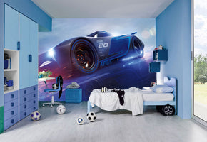 Jackson Storm Disney Cars Woven Self-Adhesive Removable Wallpaper Modern Mural M96