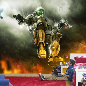 Halo Master Chief Self-Adhesive Removable Wallpaper Modern Mural M97