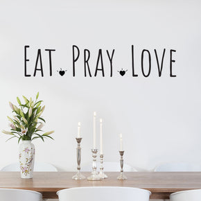 EAT PRAY LOVE Inspirational Quotes Wall Sticker Decal SQ149