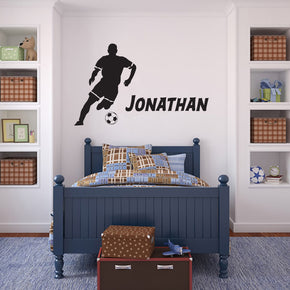 SOCCER PLAYER Personalized Wall Sticker Decal For Kids SQ172