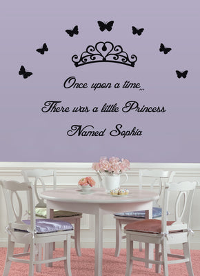 A Little Princess Personalized Inspirational Quotes Wall Sticker Decal For Kids SQ69