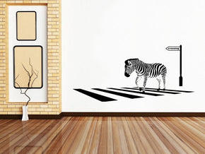 ZEBRA CROSSING Wall Sticker Decal Stencil Silhouette SST012