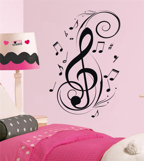MUSICAL NOTES Wall Sticker Decal Stencil Silhouette SST020