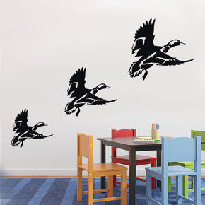 FLYING DUCKS Sticker mural autocollant pochoir Silhouette SST024
