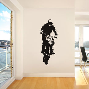 Dirt Bike Motorcycle Wall Sticker Decal Stencil Silhouette ST111