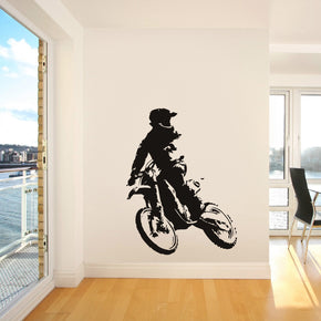 Motocross Dirt Bike Wall Sticker Decal Stencil Silhouette ST122