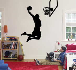 Basketball Player Wall Sticker Decal Stencil Silhouette ST171