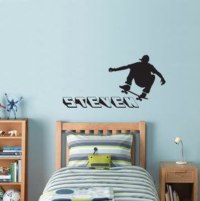 SKATERS Personalized Wall Sticker Decal Stencil Silhouette ST185