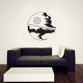 War Space Station Wall Sticker Decal Stencil Silhouette ST196