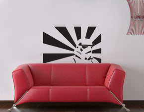 Fictional Soldier Wall Sticker Decal Stencil Silhouette ST197