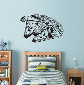 Fictional Starship Wall Sticker Decal Stencil Silhouette ST198