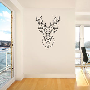 ORIGAMI DEER Wall Sticker Decal Stencil Silhouette ST232