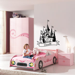 PRINCESS CASTLE Personalized Wall Sticker Decal Stencil Silhouette ST233