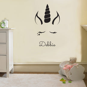 UNICORN Personalized Wall Sticker Decal Stencil Silhouette ST236