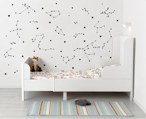Stars Constellation Astrology Wall Sticker Decal Stencil Silhouette ST237