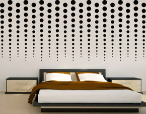 Rain Of Dots Wall Sticker Decal Stencil Silhouette ST252