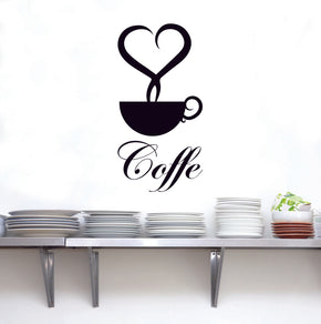 COFFE Wall Sticker Decal Stencil Silhouette ST254