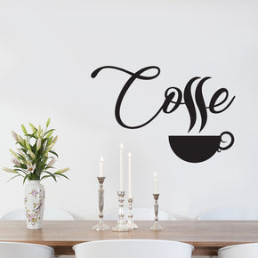 COFFE Wall Sticker Decal Stencil Silhouette ST255