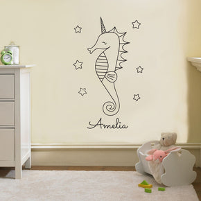 SEAHORSE Personalized Wall Sticker Decal Stencil Silhouette ST259