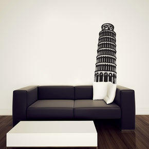 Italy Tower Wall Sticker Decal Stencil Silhouette ST272