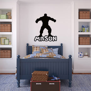 The Incredible Hulk Super Hero Personalized Wall Sticker Decal Stencil Silhouette ST308
