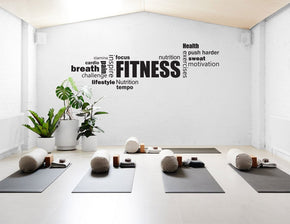 FITNESS COLLAGE Wall Sticker Decal Stencil Silhouette ST312