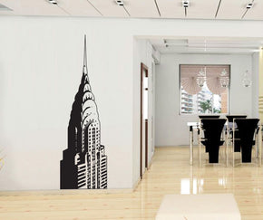 Building New York Wall Sticker Decal Stencil Silhouette ST326