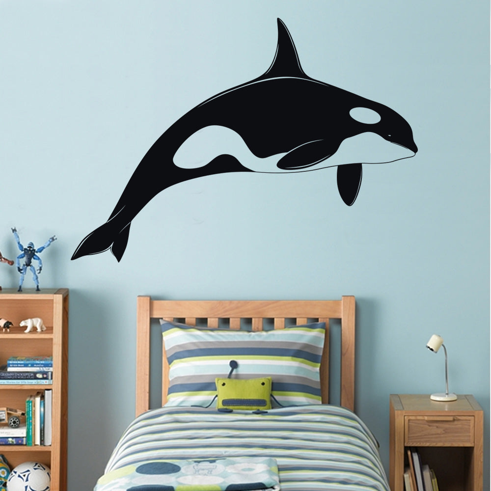 Orca Killer Whale Wall Sticker Decal Stencil Silhouette St32 Decalz Co