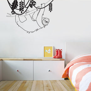 SLOTH Tree Branch Jungle Wall Sticker Decal Stencil Silhouette ST340