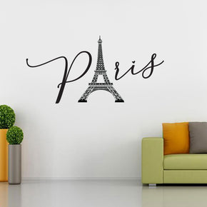 PARIS CITY Wall Sticker Decal Stencil Silhouette ST349