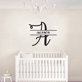 INITIALS Personalized Wall Sticker Decal Stencil Silhouette ST350