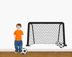 Soccer Goal Wall Sticker Decal Stencil Silhouette ST360