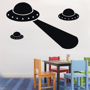 ALIEN SPACESHIPS Wall Sticker Decal Stencil Silhouette ST36