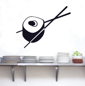 SUSHI CHOPSTICKS Wall Sticker Decal Stencil Silhouette ST37