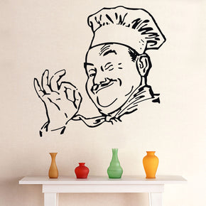 CHEF Wall Sticker Decal Stencil Silhouette ST39