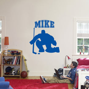 HOCKEY PLAYER Personalized Inspirational Quotes Wall Sticker Decal For Kids ST403