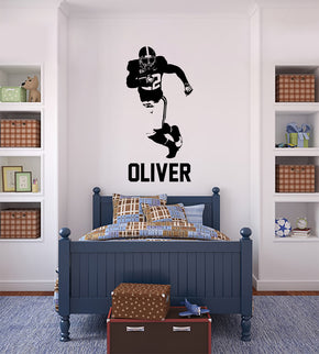FOOTBALL PLAYER Personalized Wall Sticker Decal For Kids ST404