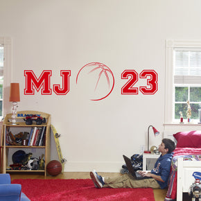 Basketball Player Wall Sticker Decal Stencil Silhouette ST40