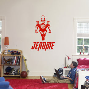 Iron-Man Superhero Personalized Wall Sticker Decal Stencil Silhouette ST418
