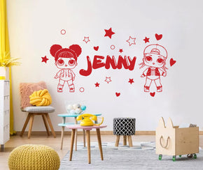 LOL SURPRISE Dolls Personalized Wall Sticker Decal Stencil Silhouette ST423