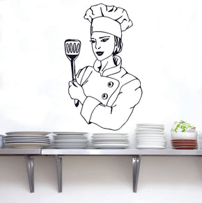 CHEF Wall Sticker Decal Stencil Silhouette ST42
