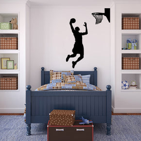 BASKETBALL PLAYER DUNK Wall Sticker Decal Stencil Silhouette ST69