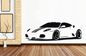 Sports Car Wall Sticker Decal Stencil Silhouette ST76