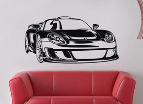 Race Car Wall Sticker Decal Stencil Silhouette ST79