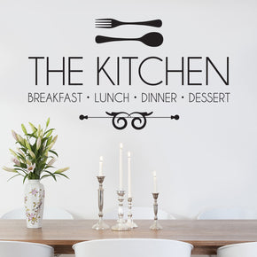 KITCHEN Breakfast Luch Dinner Inspirational Quotes Wall Sticker Decal SQ87