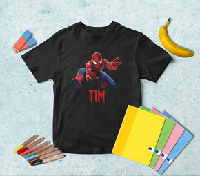 Spider-Man Super Hero Personalized Name T-shirt TS043