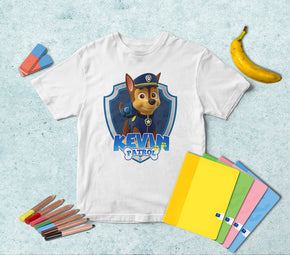 Chase Paw Patrol Personalized Name T-shirt TS292